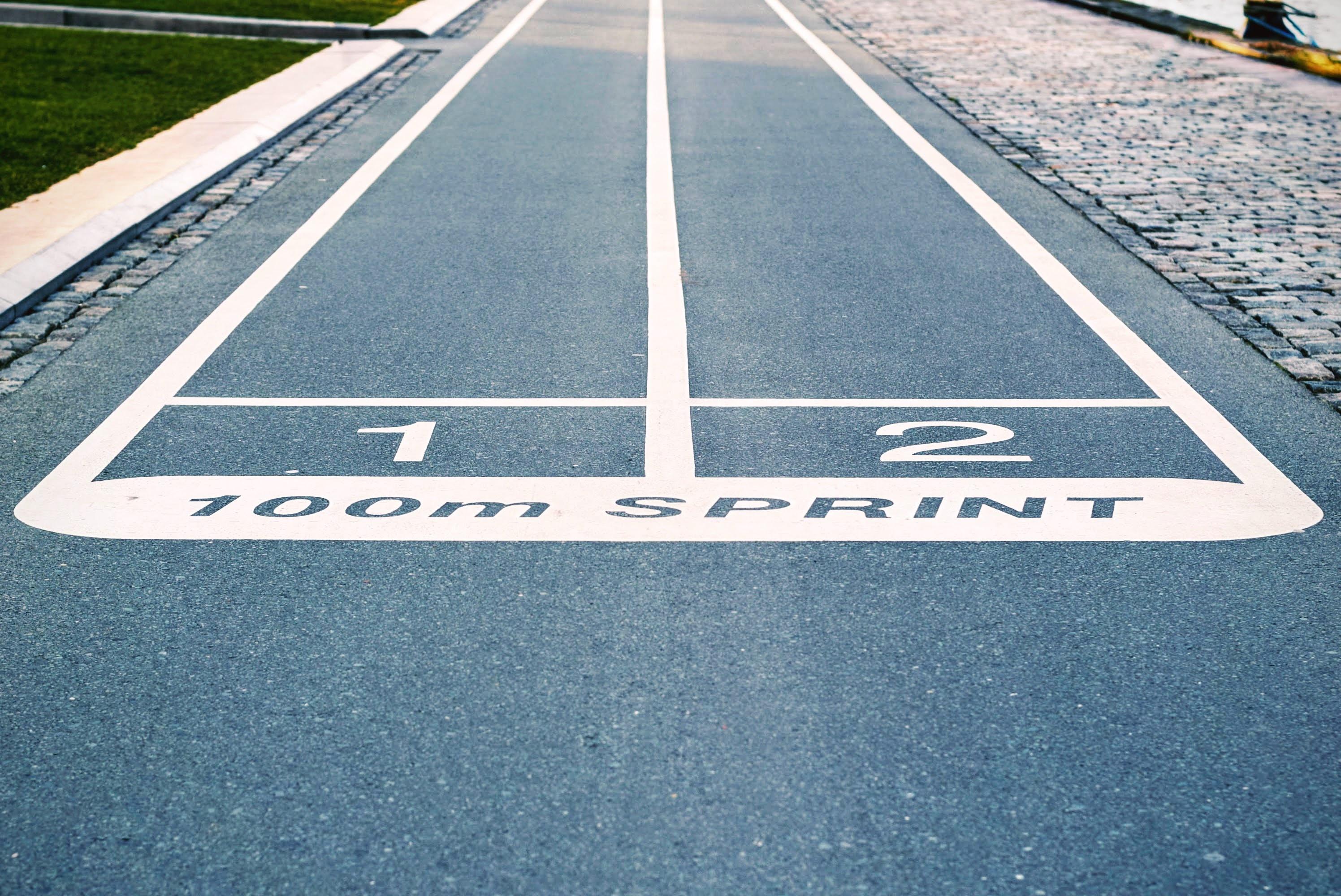 100-meter-dash-lane